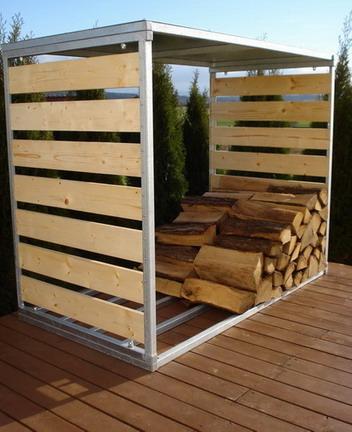 Dřevník na palivové dřevo